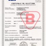 Certyfikat bezpieczeństwa