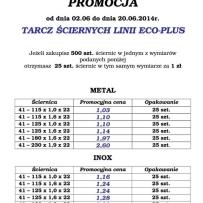 Promocja tarcz ściernych linii ECO-PLUS oraz ściernic listkowych